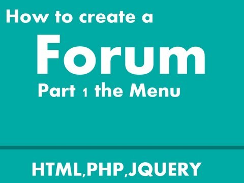 How to create a Forum part 1