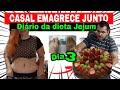 CASAL EMAGRECE JUNTOS 3 | BOLO DE FESTA DE DIETA | JEJUM | DIÁRIO DA DIETA