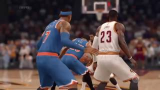 nba live 17   remake  new york knicks vs cleveland cavs   highlights   patch rosters 2017   xbox one