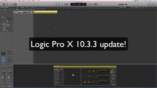 Logic Pro X 10.3.3 update