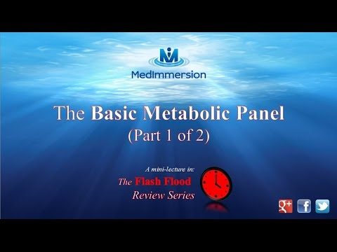 """The Basic Metabolic Panel, """"The BMP"""", (part 1 of 2)"""