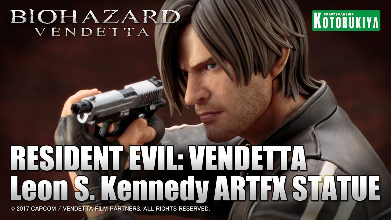 Resident Evil Vendetta Leon S Kennedy Artfx Statue Figure