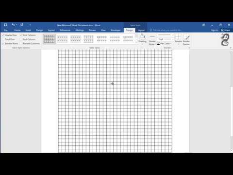 How to Get Graph Paper on Word - YouTube