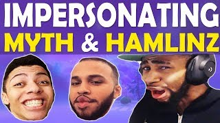 DAEQUAN IMPERSONATES MYTH AND HAMLINZ | TOMATO TEMPLE TERROR | VOLLEYBALL - (Fortnite Battle Royale)
