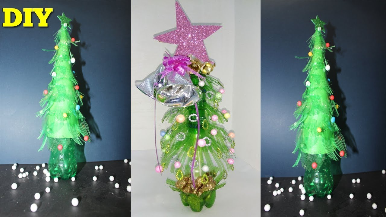 How To Make Plastic Bottle Christmas Tree