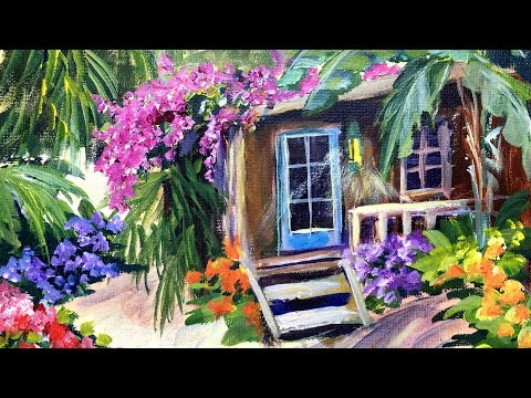How to Paint a Honduras Getaway by Ginger Cook with Acrylic Paints for Beginners