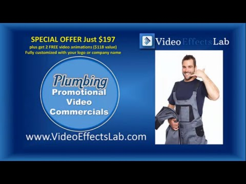 Professional Plumber Video Commercial For Websites or Social Media Promos ID PL7 Video Effects Lab