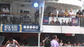 NKOTB Cruise 2013 - Sail Away Party - Joe's 1st Speech, Jordan Bum Shake
