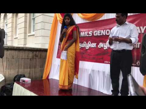 The Poem read by Vikna Tamil Activist at Mullivaikkal Rememberance Day in London commemorated by TCC