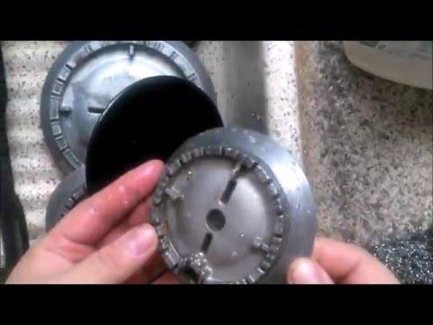 Como cambiar o limpiar los quemadores a la cocina doovi - Limpiar quemadores cocina gas ...