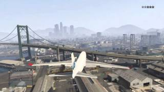 GTA 5 - Jumbo Jet Gameplay + crashes