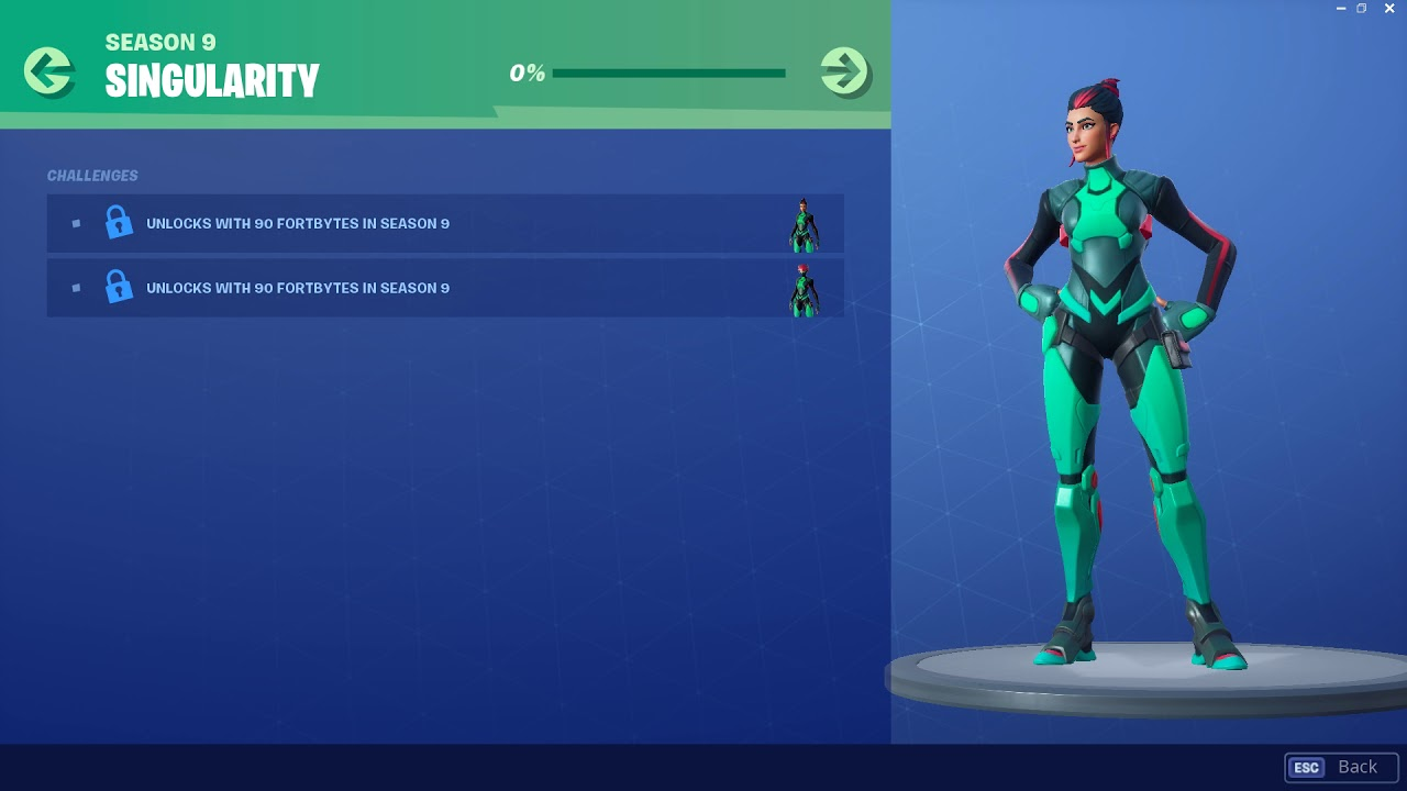 Fortnite Fortbyte Skin Singularity Leaked: Utopia Challenges