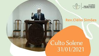 CULTO SOLENE - 31/01/2021