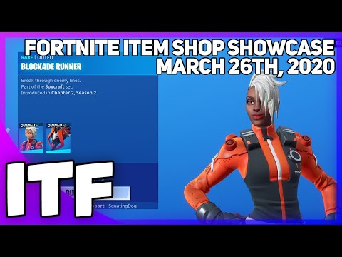 Fortnite Item Shop *NEW* BLOCKADE RUNNER SET! [March 26th, 2020] (Fortnite Battle Royale)