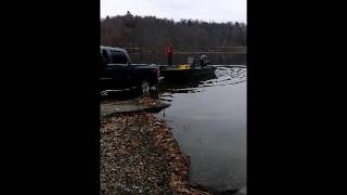 my 2016 tracker grizzly 2072 mvx cc boat launch 1st time