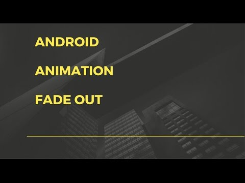 android objectanimator fade out