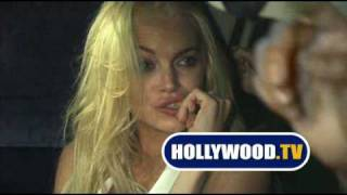 Lindsay Lohan And Friends At Chateau Marmont.
