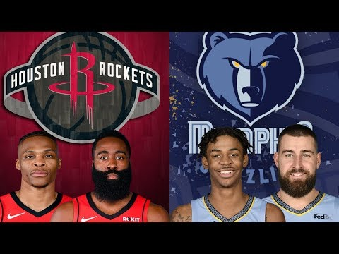NBA STREAM: Houston Rockets Vs Memphis Grizzlies | Live Play By Play & Reactions