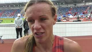 Simona Vrzalová po trati 1500 metrů na Zlaté tretře