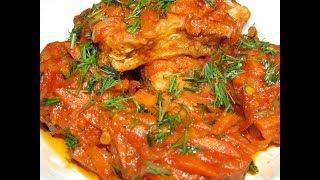 Нежный  тушеный хек с овощами по гречески