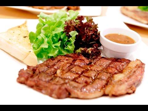 Steak..ใครว่าทำยาก นี่ไง สเต็กหมูอย่างง่าย ง่ายกว่าปลอกกล้วย..by Sunitjo