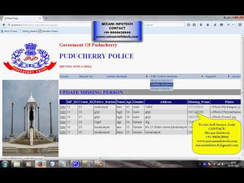Crime Management System - ASP NET with C# Project - YouTube