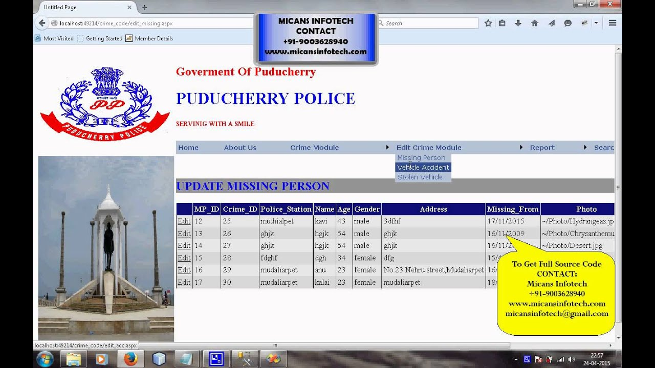 Police Station Management System Project Ppt