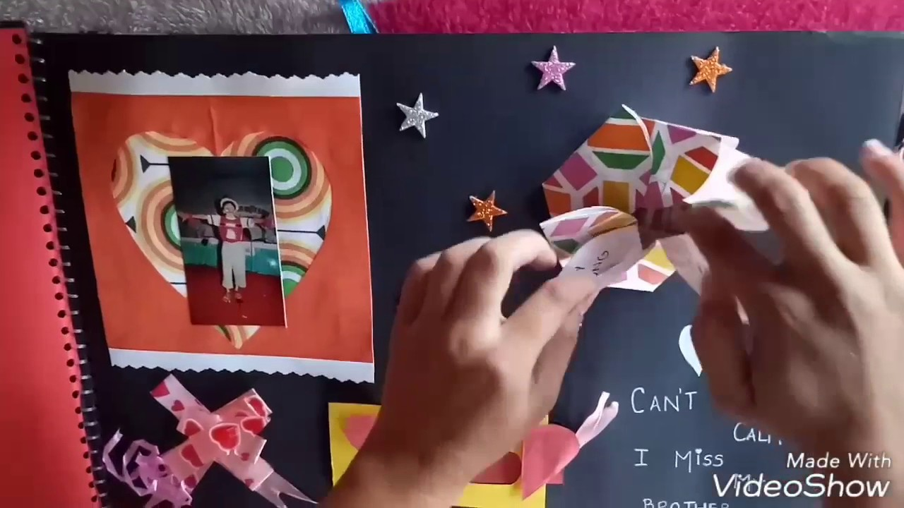 How to make scrapbook with construction paper - How To Make Scrapbook