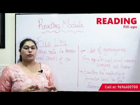 IELTS Reading Module (Fill Ups) - Eurasia Language School (A Sub Unit Of SWICS)