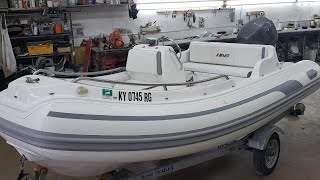 The dinghy is back ! Restoration of an Ab inflatable boat !