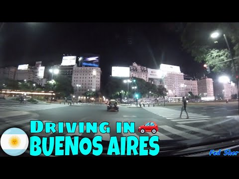Driving in Buenos Aires (from San Nicolás to Martínez)