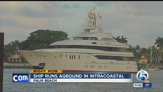 Ship runs aground in Intracoastal