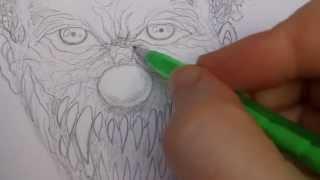 Drawing Demonic Clown Face