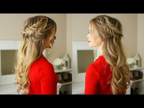 Dutch Fishtail Braids Holiday Hairstyle 2020