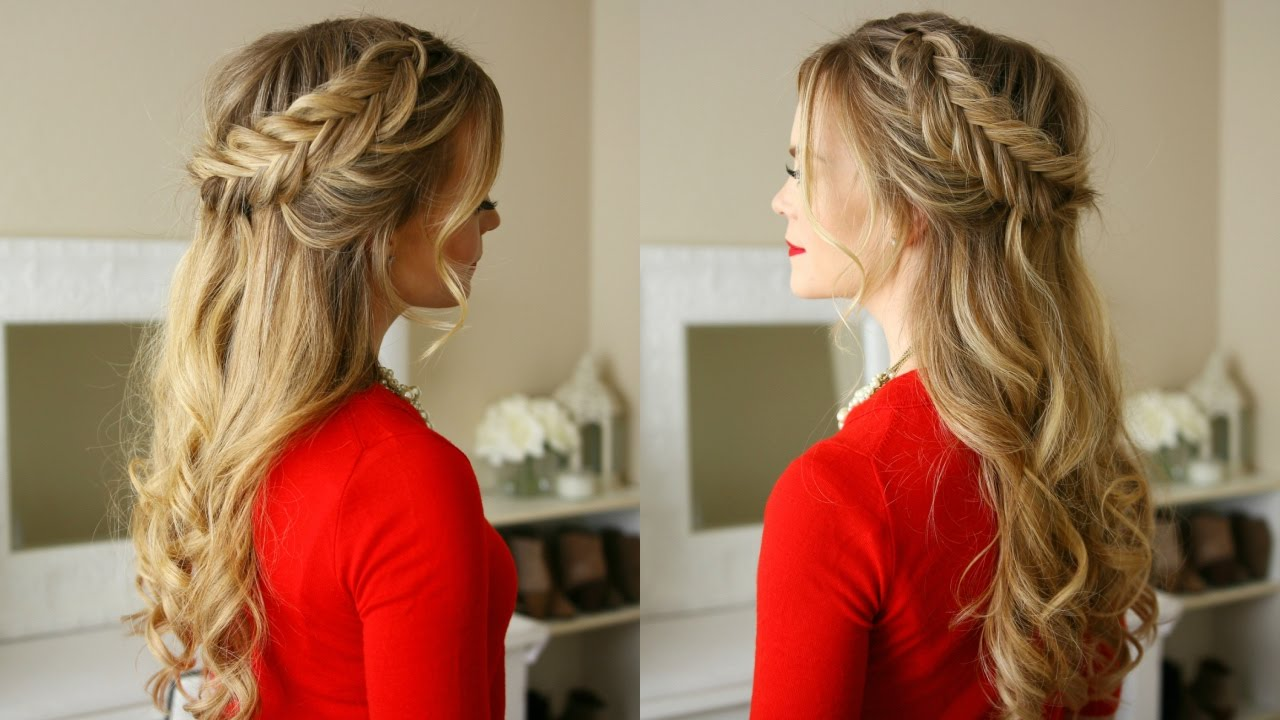 Hair Styles For Braids Pictures: Dutch Fishtail Braids Holiday Hairstyle