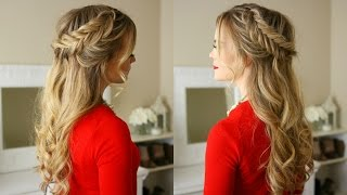 Dutch Fishtail Braids Holiday Hairstyle   Missy Sue