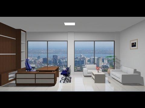 Sketchup Interior design ( Office ) - YouTube