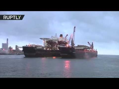 It's huge! World's largest vessel launches from Dutch port