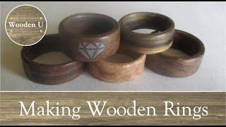 Making Wooden Rings - Wooden U