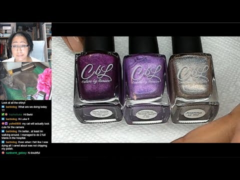 Nail Polish Testing | Purple Stamped Gradient Extended Nail Art Tutorial [Streamed 6/15/19] thumbnail