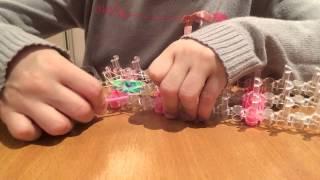 Как плести из резинок розу (урок 1)