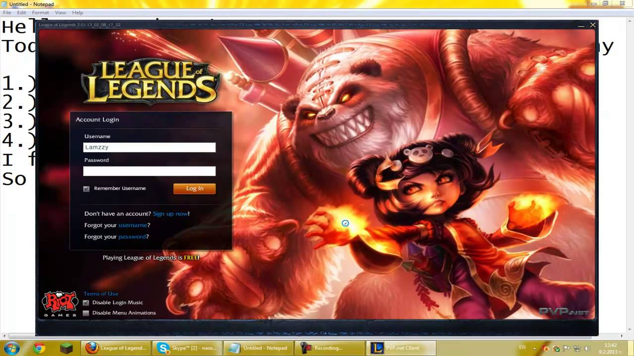 League Of Legends No Download
