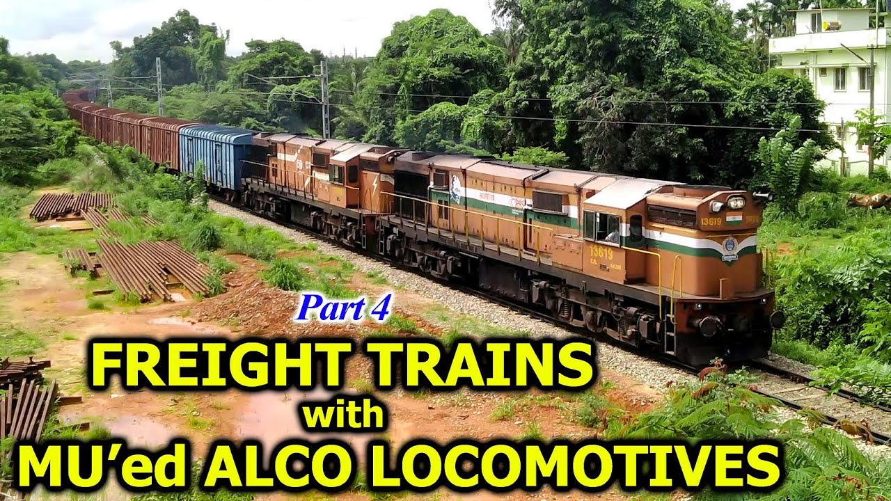 [Part 4] Indian Railways FREIGHT TRAINS with MU'ed ALCO LOCOMOTIVES