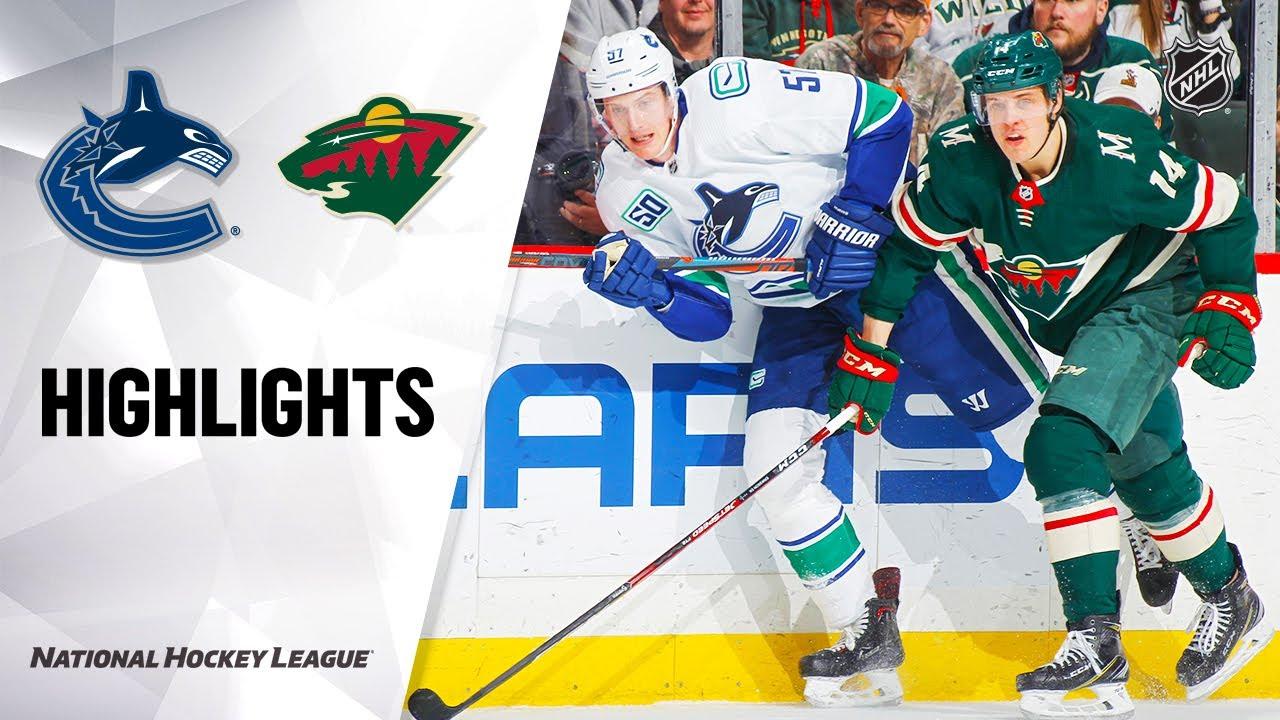 NHL Highlights | Canucks @ Wild 1/12/20