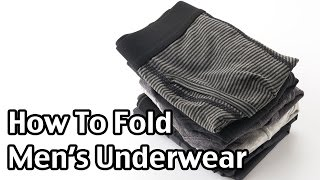 How To Fold Men's And Boys' Underwear (Briefs)