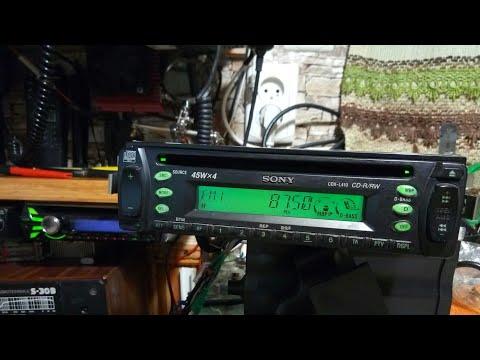 Тест приемника .магнитола  SONY CDX-L410