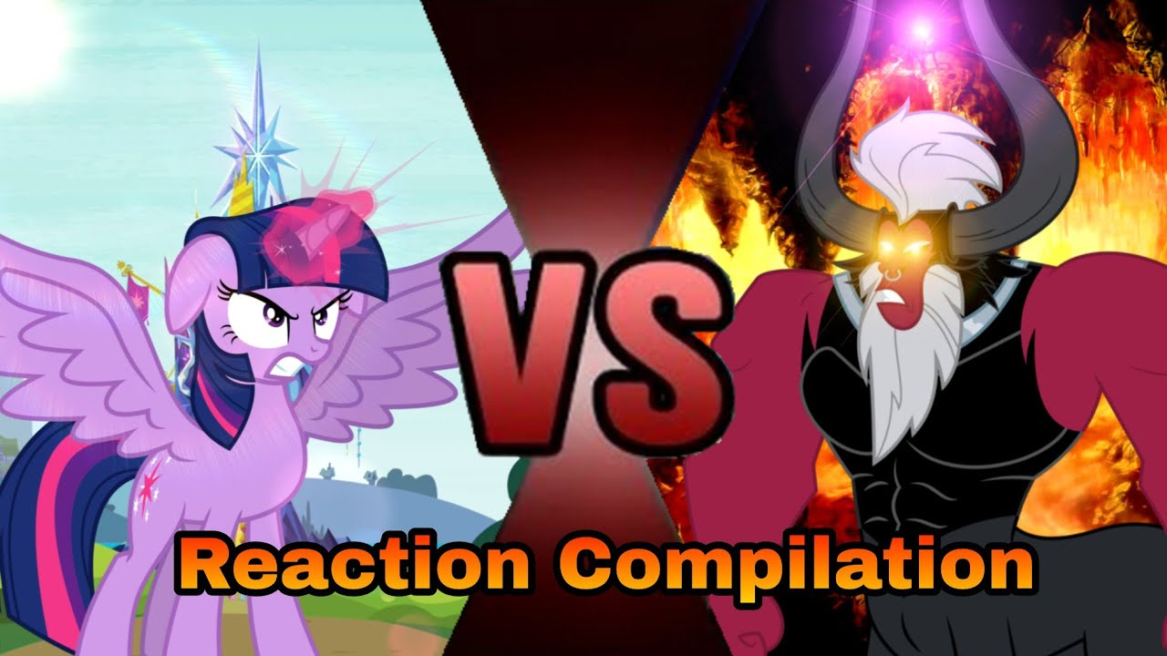 MLP:FIM S04 E26 - Twilight vs tirek - Reaction Compilation