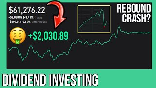 ROBINHOOD $2,000 GAIN, DOW UP 1100 POINTS, and UPCOMING CRASH? | Robinhood DIVIDEND INVESTING