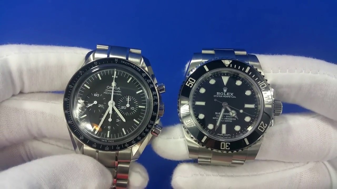 c7aa814a4dc Rolex Submariner vs Omega Speedmaster Professional Review - YouTube