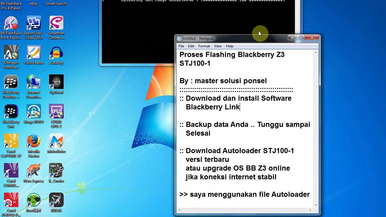 Flashing Blackberry Z3 Autoloader